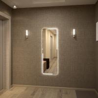 Зеркало с подсветкой в ванную Диана 70х90 см